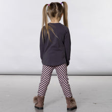 Organic Cotton Stripe Legging by Deux par Deux
