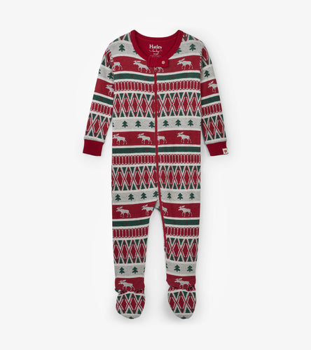 Hatley Winter Fair Isle Footed Coverall