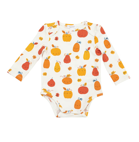 Pumpkin Patch Lap Shoulder Bodysuit by Angel Dear