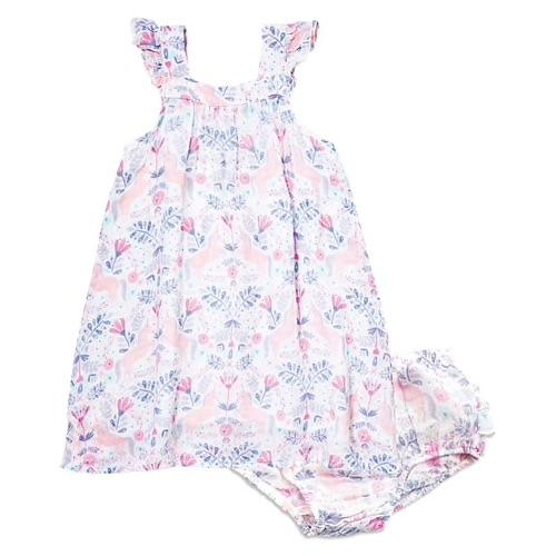 Angel Dear Unicorn Damask Muslin Sundress