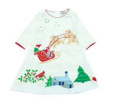 Santa Is Coming Dress by Cotton Kids