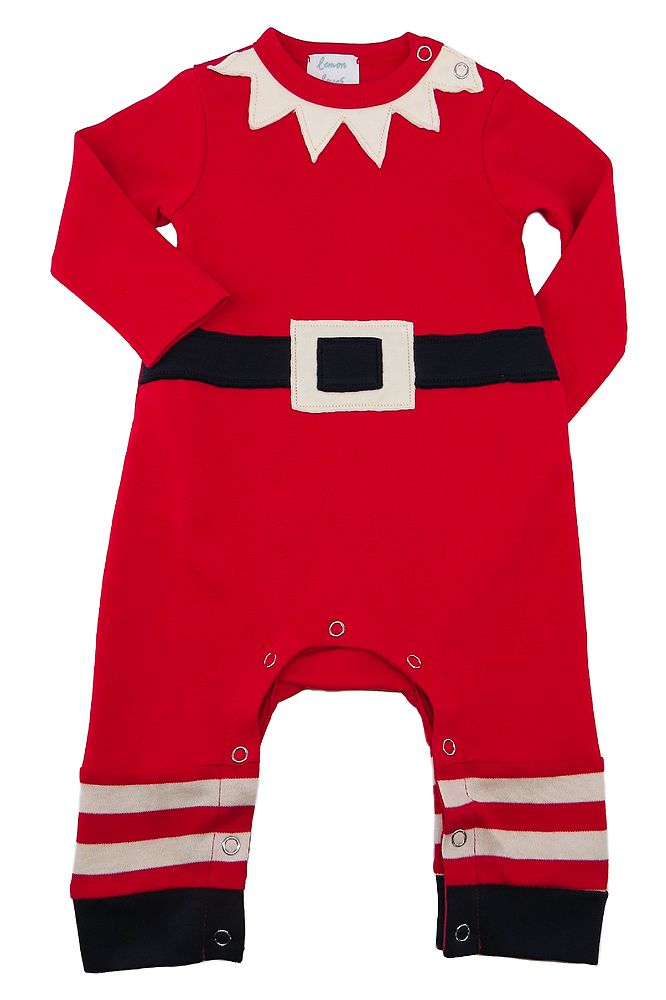 Lemon Loves Lime Mr. Elf Romper