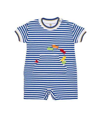 Baby Boy's Stripe Shortall with Fish