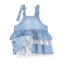 Denim Pinafore Dungaree Skirt for Baby Girl