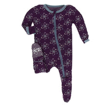 Astronomy Printed Zippered Footies by Kickee Pants