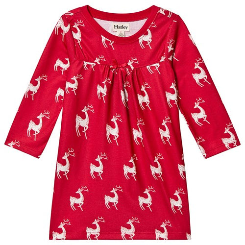Hatley Mistletoe Deer Nightdress