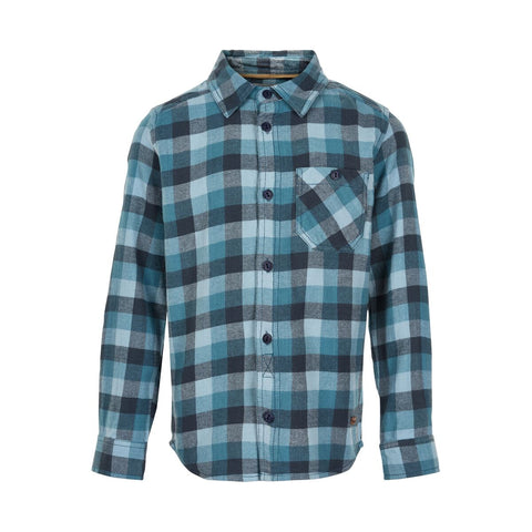 MinyMo Ombre Blue Plaid Button Up