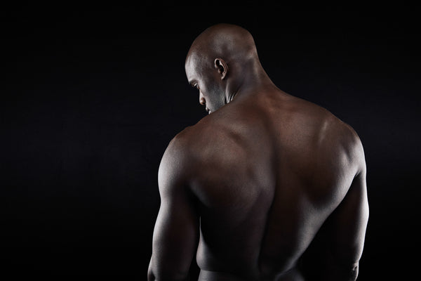 Man with smooth back