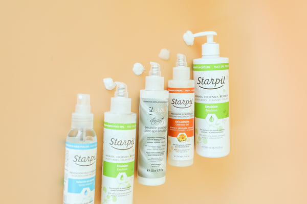 Starpil Pre and Post Waxing Care Products
