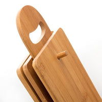BAMBOO SET OF CHOPPING BOARDS WITH BASE (7 PIECES)