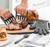 MEAT CLAWS WITH GLOVES AND BRUSH