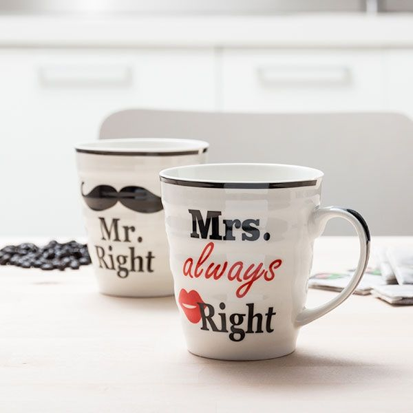 MR. RIGHT & MRS. ALWAYS RIGHT MUGS - Verano Time
