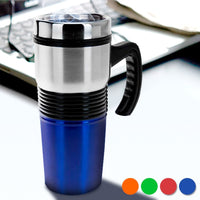 COLOURED STEEL VACUUM FLASK 400 ML