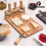 BAMBOO CHEESE BOARD SET (5 PIECES)