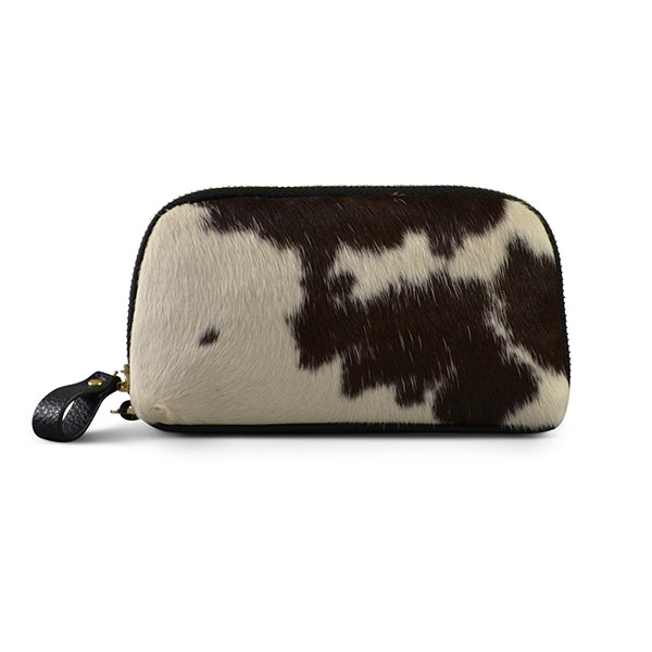 CARMICHAEL-  Natural Cowhide Leather Wristlet Wallet - Addison Road