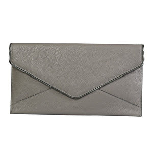 CASTLECRAG - Grey Clutch with zipper detailing - Addison Road