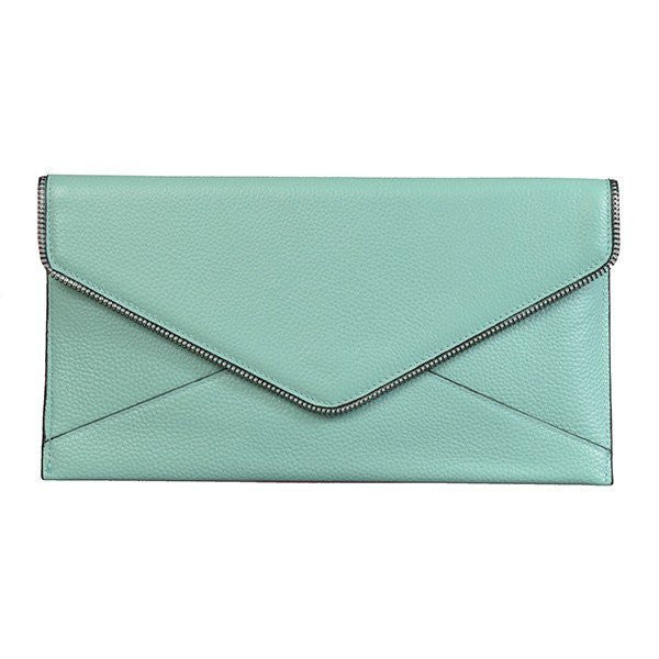 CASTLECRAG - Mint Clutch with zipper detailing - Addison Road