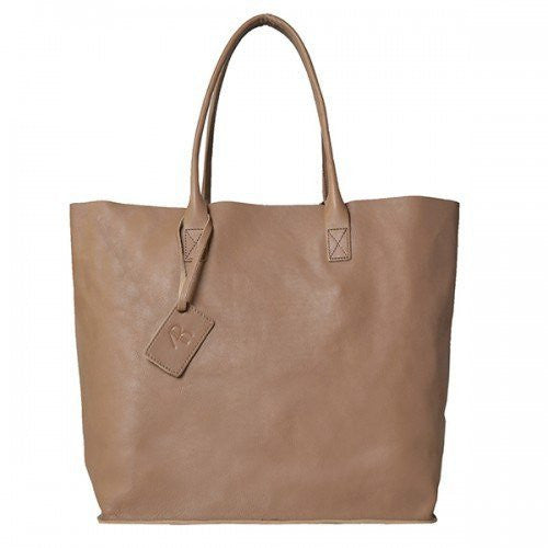 BIRCHGROVE - Nude Genuine Leather Shopper Slouch Tote - Addison Road