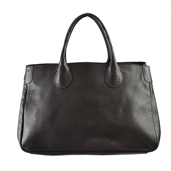 BRIGHTON - Black Pebbled Leather Handbag - Addison Road