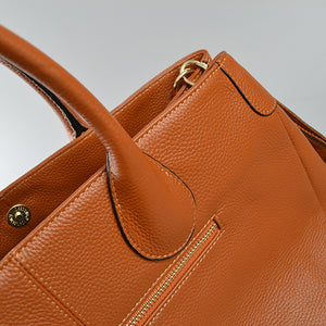 BRIGHTON - Cognac Pebbled Leather Handbag - Addison Road