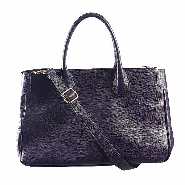 BRIGHTON - Grape Pebbled Leather Handbag - Addison Road