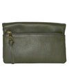 CREMORNE - Ladies Green Leather Fold Wallet Purse with Gold Hardware - Addison Road
