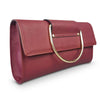EDEN - Addison Road - Shiraz Structured Saffiano Ring Clutch - Addison Road