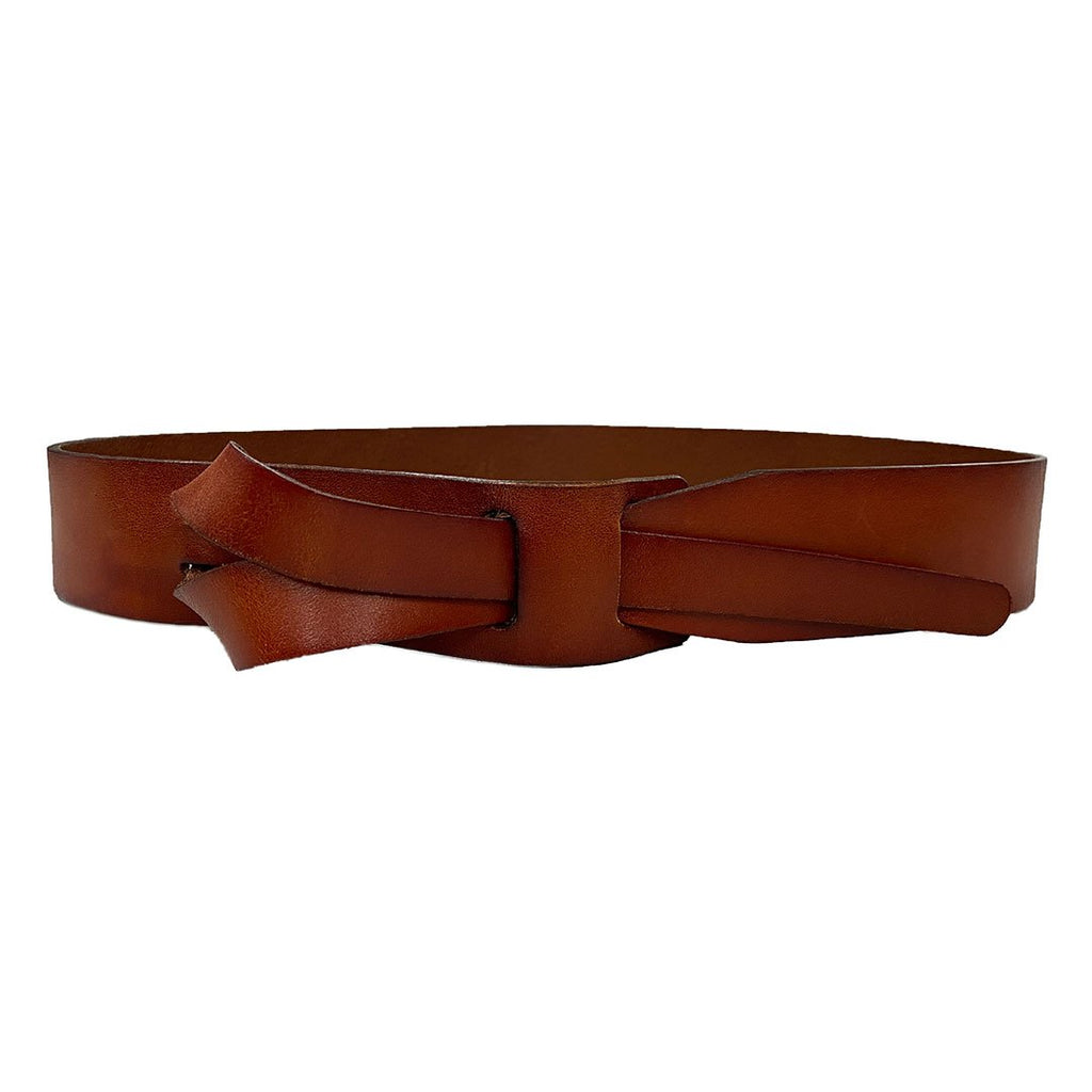 FRESHWATER - Brown Genuine Leather Knot Waist belt