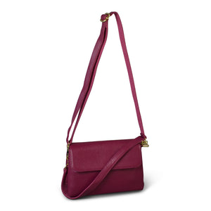 Limited Edition - Kempsey Pink Leather Crossbody Fold Bag - Addison Road
