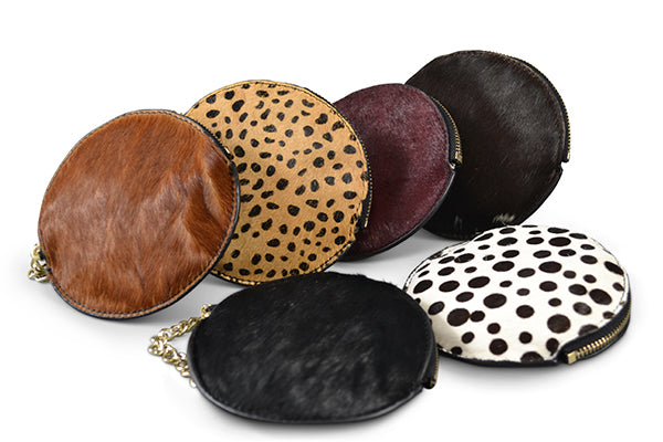 LORN- Cowhide Coin Purse with Keyring - Addison Road