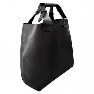 PADDINGTON  Addison Road Womens Black Genuine Leather Tote  - Belt N Bags
