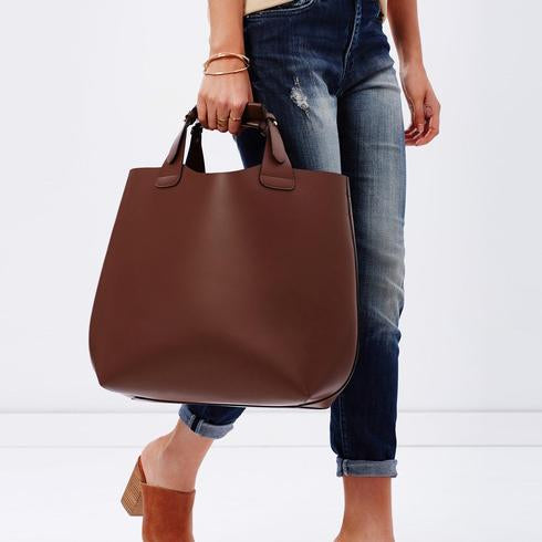 PADDINGTON  Addison Road Tan Genuine Leather Tote - Addison Road