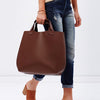 PADDINGTON  Addison Road Womens Black Genuine Leather Tote