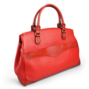 ROTHBURY Red Leather Weekender Overnight Business Bag - Addison Road