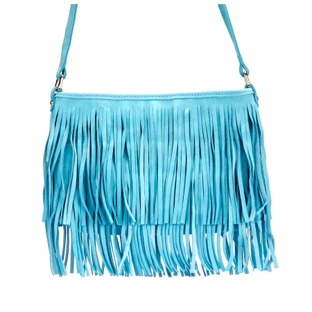 MOSMAN - Addison Road Mint Suede Boho Tassel Bag - Addison Road