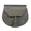 TAMARAMA - Addison Road Grey suede saddlebag - Addison Road