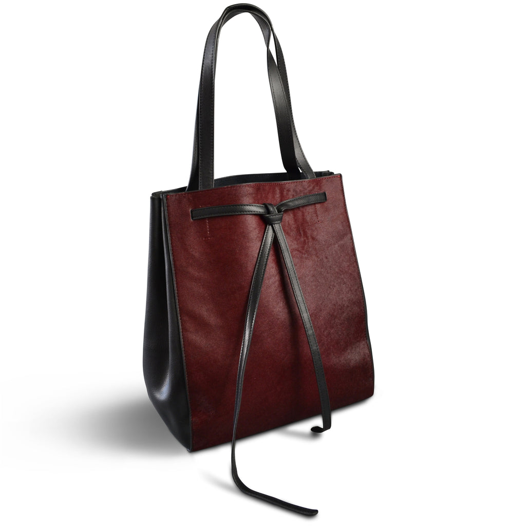 TOORAK- Addison Road Wine Hero Calfhair Tote - Addison Road
