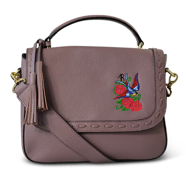 YAMBA- Addison Road  - Lilac Pebbled Leather Structured Bag