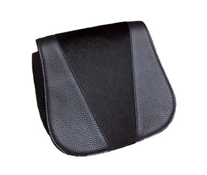 BERRY - Addison Road Pebbled Leather Saddle Bag with Black Calfhair