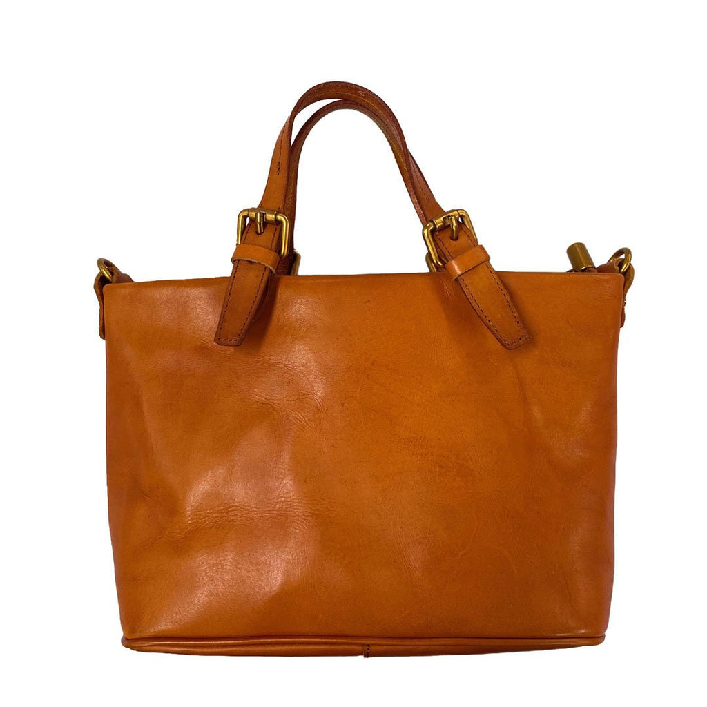 GYMEA - Women's Tan Genuine Leather Handbag