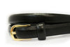 PIPER - Womens Black Genuine Leather Skinny Belt - Addison Road