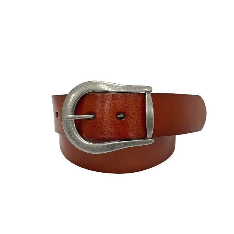 CATALINA - Women's Tan Genuine Leather Belt
