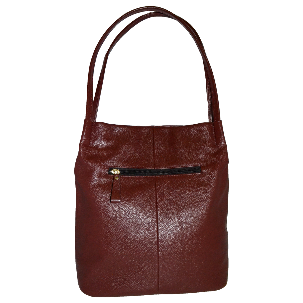 ULTIMO - Addison Road Red Soft Pebbled Leather Handbag - Addison Road