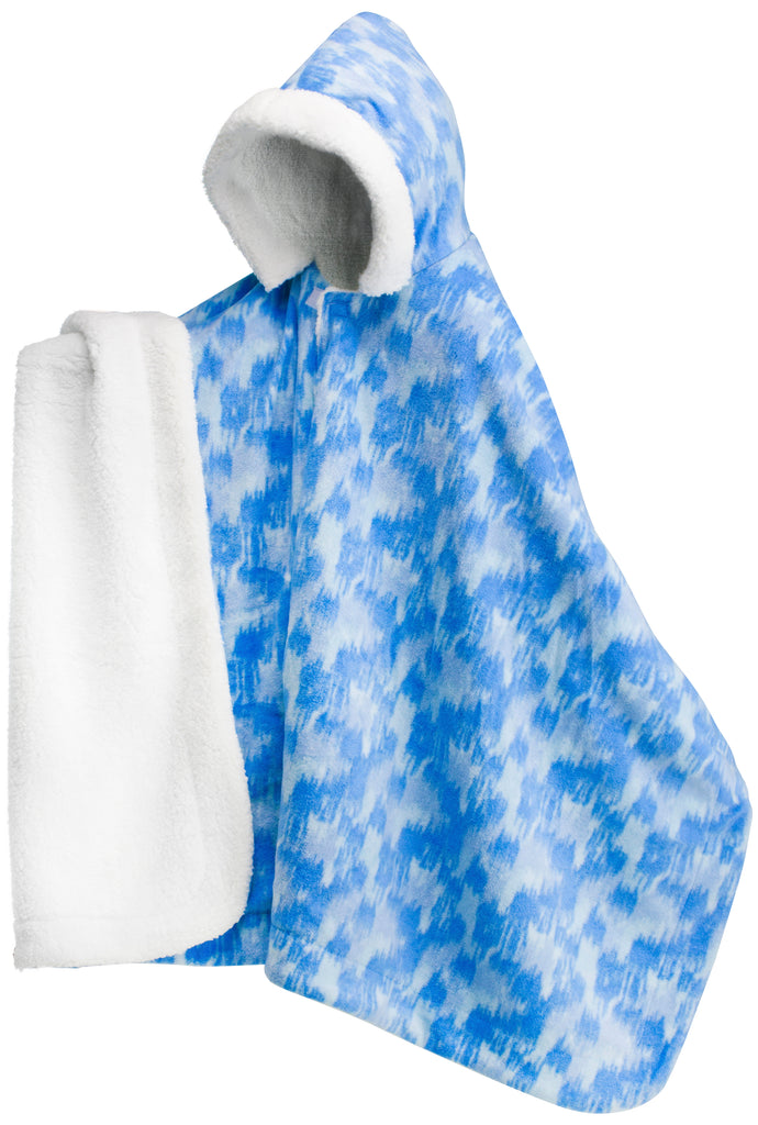 Blue Abstract Ikat