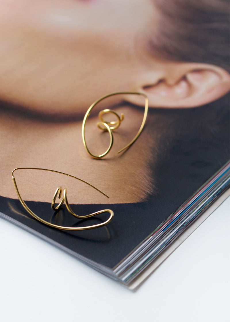 Abstract Wire Hoops
