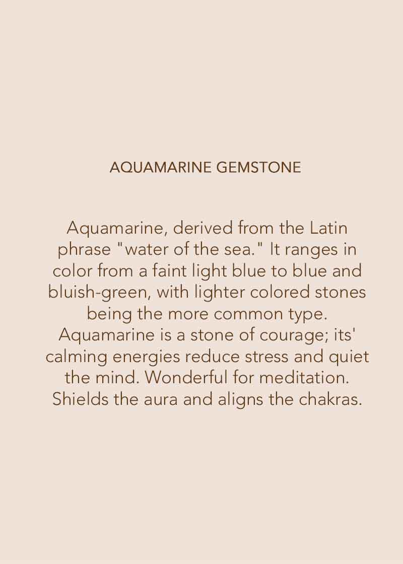 Aquamarine gemstone properties and benifits