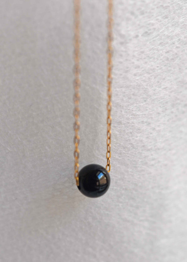 black onyx protection necklace