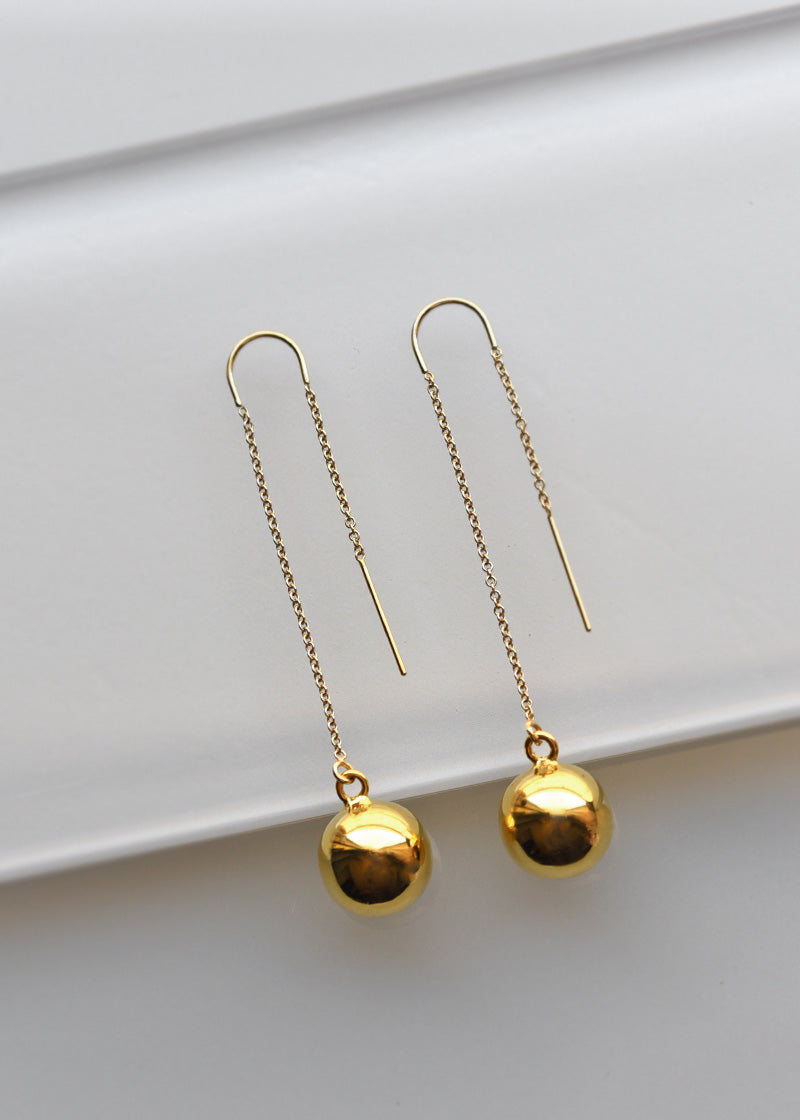 Bold threader earrings, gold threaders, long dangle earrings, Minimalist gold earrings