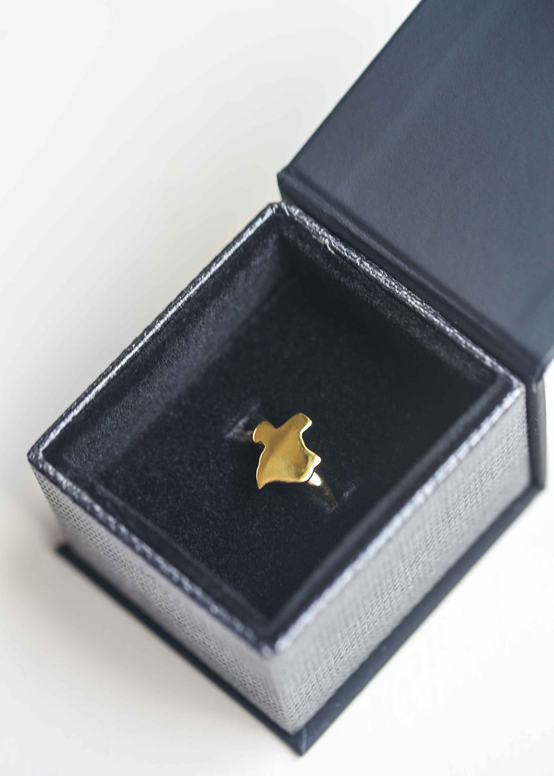 gold texas ring, texas state ring, texas shape ring