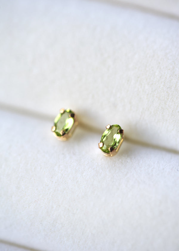 Citrine earrings in gold
